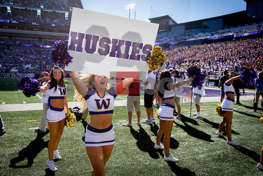 The University of Washington plays Georgia State University at Husky Stadium in Seattle on September 20, 2014.(Photography by Scott Eklund/Red Box Pictures)