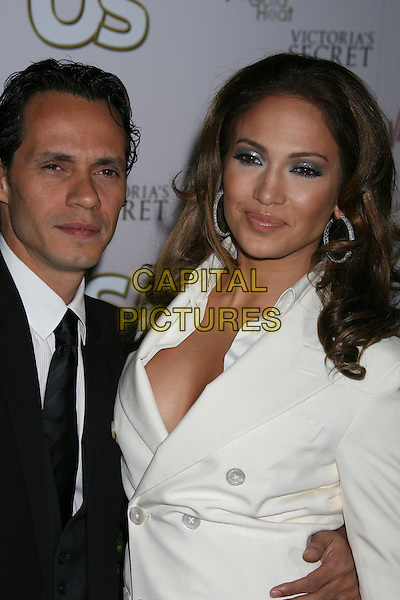 MARC ANTHONY & JENNIFER LOPEZ.US Weekly Presents Us' Hot Hollywood 2007 held at Sugar,  Hollywood, California, USA..April 26th, 2007.half length white jacket suit black married husband wife .CAP/ADM/RE.©Russ Elliot/AdMedia/Capital Pictures