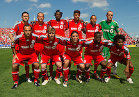 05 June 2010: Starting eleven for the Toronto FC during a game between the Kansas City Wizards and Toronto FC at BMO Field in Toronto..The game ended in a 0-0 draw.