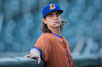 Durham Bulls starting pitcher Brent Honeywell (21) prior to the game against the Charlotte Knights at BB&T BallPark on May 16, 2017 in Charlotte, North Carolina.  The Knights defeated the Bulls 5-3. (Brian Westerholt/Four Seam Images)