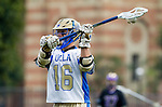 Los Angeles, CA 02/15/14 - Sam May (UCLA #16) in action during the Washington versus UCLA  game as part of the 2014 Pac-12 Shootout at UCLA.  UCLA defeated Washington 13-7.