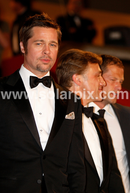 **ALL ROUND PICTURES FROM SOLARPIX.COM**.**SYNDICATION RIGHTS FOR UK AND SPAIN ONLY**.Arrivals at the premiere of Inglourious Basterds at the 62nd Cannes Film Festival in Cannes, France. .This pic:   Brad Pitt, Christoph Waltz, Til Schweiger.JOB REF:      9067    CPR/Heinz        DATE:  21.05.09.**MUST CREDIT SOLARPIX.COM OR DOUBLE FEE WILL BE CHARGED**.**ONLINE USAGE FEE GBP 50.00 PER PICTURE - NOTIFICATION OF USAGE TO PHOTO @ SOLARPIX.COM**.**CALL SOLARPIX : +34 952 811 768 or LOW RATE FROM UK 0844 617 7637**