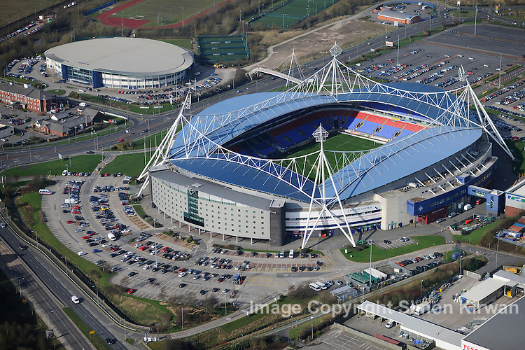Reebok Stadium, home of Bolton Wanderers FC, from the Air
