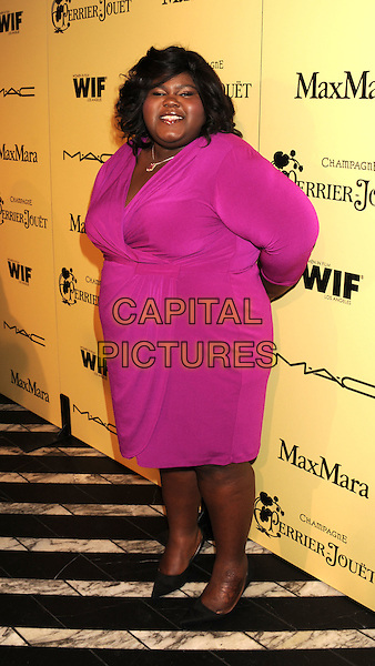"Gabourey ""Gabby"" Sidibe.5th Annual Women In Film Pre-Oscar Cocktail Party held at Cecconi's Restaurant, Los Angeles, California, USA..February 24th, 2012.full length pink dress .CAP/ROT/TM.©Tony Michaels/Roth Stock/Capital Pictures"