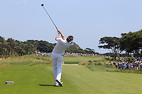 Ian Poulter (ENG) tees off the 1st tee to start his match Sunday's Final Round of the 94th PGA Golf Championship at The Ocean Course, Kiawah Island, South Carolina, USA 11th August 2012 (Photo Eoin Clarke/www.golffile.ie)
