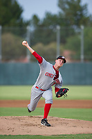 AZL Reds starting pitcher Ricky Karcher (30) delivers a pitch to the plate against the AZL Athletics on July 16, 2017 at Lew Wolff Training Complex in Mesa, Arizona. AZL Athletics defeated the AZL Reds 13-5. (Zachary Lucy/Four Seam Images)