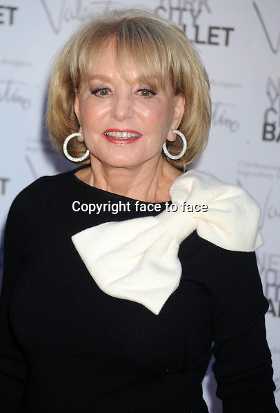 Barbara Walters at the New York City Ballet Fall Gala honoring designer_Valentino in new York on 20.9.2012..Credit: Dennis Van Tine/StarMaxInc/face to face - Hungary, Bulgaria, Croatia, Russia, Romania and Moldavia, Slovakia, Slovenia, Bosnia & Herzegowina, Serbia, Ukraine and Belaurus, Lithuania, Latvia, Estonia, Australia, Spain, Taiwan, Singapore, China, Malaysia and Thailand rights only -