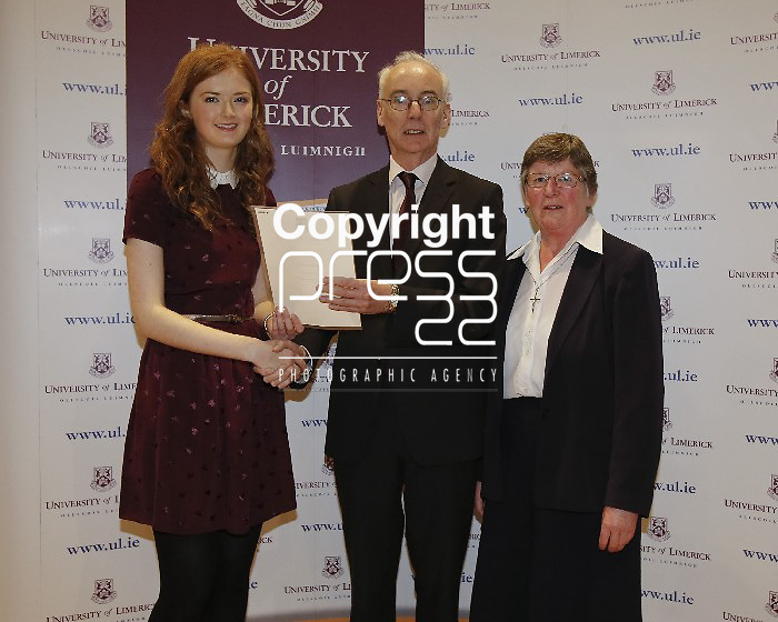 06/12/2013 Isabella Harold, Barry, Clochar Na Nursulach, Co Tipperary,  pictured a at a scholarship award ceremony at the University of Limerick. Picture: Don Moloney / Press 22