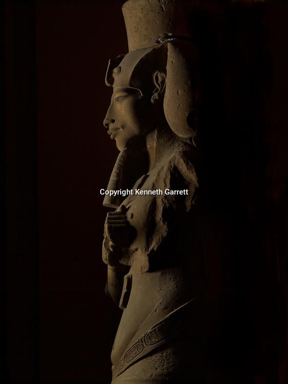 Colossal statue of Amenhotep IV, Akhenaten, originally from Karnak,Egypt; Amarna; Pharaohs of the Sun; mm6714;Luxor Museum, Akhenaten