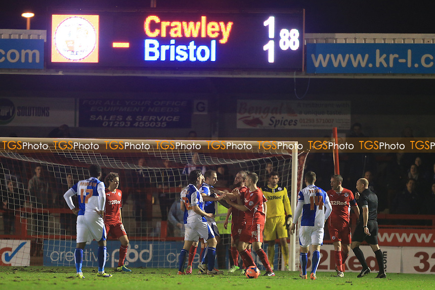John-Joe O'Toole of Bristol Rovers causes trouble at a free kick late on - Crawley Town vs Bristol Rovers - FA Challenge Cup 2nd Round Football at the Broadwood Stadium, Crawley, West Sussex - 08/01/14 - MANDATORY CREDIT: Simon Roe/TGSPHOTO - Self billing applies where appropriate - 0845 094 6026 - contact@tgsphoto.co.uk - NO UNPAID USE