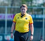 AMSTELVEEN - scheidsrechter Steven Bakker    tijdens de hoofdklasse competitiewedstrijd hockey dames,  Amsterdam-Oranje Rood (5-2). COPYRIGHT KOEN SUYK