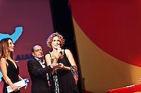 PESCARA (PE) 08/07/2012 - 39° FILM FESTIVAL INTERNAZIONALE FLAIANO. PREMIAZIONE FINALE. IN FOTO L'ATTRICE LUCREZIA LANTE DELLA ROVERE . FOTO DI LORETO ADAMO
