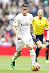 Real Madrid's James Rodriguez during La Liga match. February 13,2016. (ALTERPHOTOS/Acero)