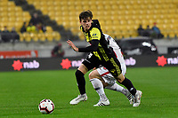 Wellington Phoenix' Alex Rufer in action during the A-League - Wellington Phoenix v Western Sydney Wanderers at Westpac Stadium, Wellington, New Zealand on Saturday 3 November  2018. <br /> Photo by Masanori Udagawa. <br /> www.photowellington.photoshelter.com
