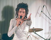 Whitney Houston performs at the State Dinner in honor of President Nelson Mandela of South Africa at The White House in Washington, D.C. on October 3, 1994.<br /> Credit: Ron Sachs / CNP