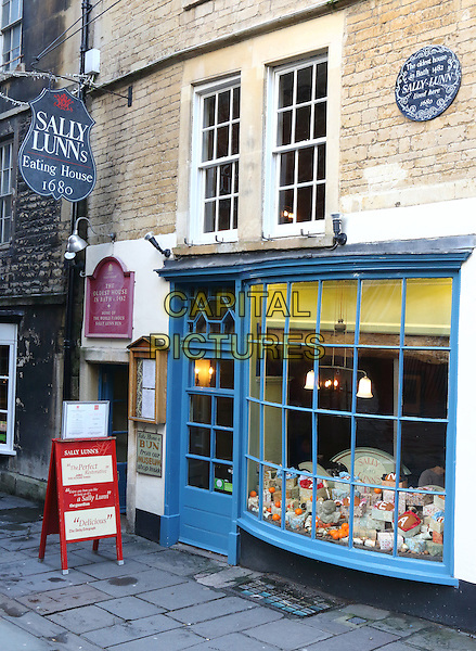Sally Lunn's House - the oldest house in Bath, Bath, Somerset, England on December 30th 2015<br /> CAP/ROS<br /> &copy;Steve Ross/Capital Pictures
