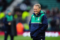 Ireland Rugby Head Coach Joe Schmidt looks on during the pre-match warm-up. RBS Six Nations match between England and Ireland on February 27, 2016 at Twickenham Stadium in London, England. Photo by: Patrick Khachfe / Onside Images
