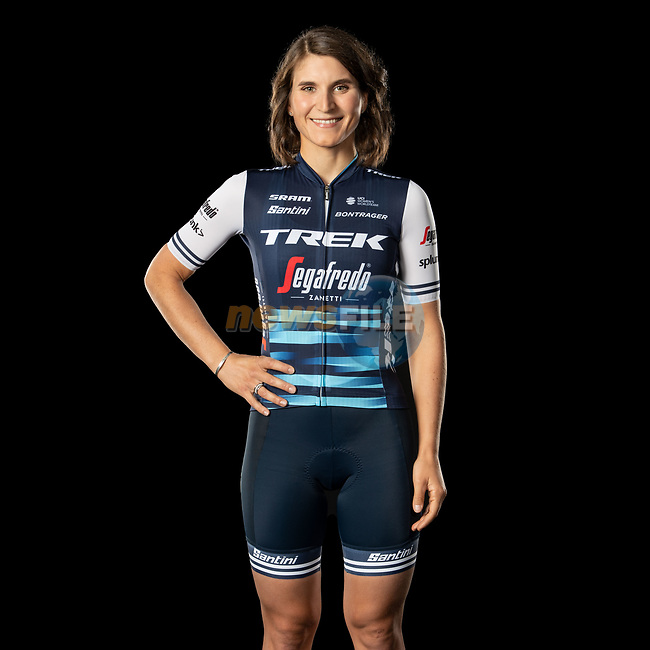 The London Rouleur Classic event provided the venue for today's unveiling of the new Trek-Segafredo men's and women's kits for the upcoming 2020 racing season. Elisa Longo Borghini (ITA) models the women's kit. Trek-Segafredo also announced that the partnership with Santini would continue for the next three years. 1st November 2019.<br /> Picture: Trek Factory Racing | Cyclefile<br /> <br /> <br /> All photos usage must carry mandatory copyright credit (© Cyclefile | Trek Factory Racing)