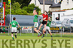 Kieran Courtney Glenbeigh/Glencar jumping with Brendan delaney Milltown/Castlemaine during their Div 1 clash in Glenbeigh Sunday evening