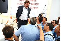 Michele Meta responsabile del sistema di trasporto pubblico  del PD parla con i lavoratori del PD<br /> Genova 04-09-2013 Festa Nazionale Partito Democratico<br /> Photo  Genova Foto /Insidefoto