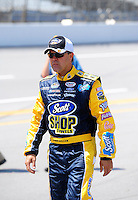 Apr 25, 2009; Talladega, AL, USA; NASCAR Nationwide Series driver Jason Keller prior to the Aarons 312 at the Talladega Superspeedway. Mandatory Credit: Mark J. Rebilas-