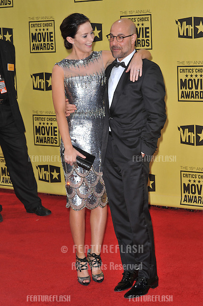 Stanley Tucci & Emily Blunt at the 15th Annual Critics' Choice Movie Awards, presented by the Broadcast Film Critics Association, at the Hollywood Palladium..January 15, 2010  Los Angeles, CA.Picture: Paul Smith / Featureflash