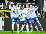 ***BETALBILD***  <br /> Solna 2015-05-10 Fotboll Allsvenskan AIK - IFK Norrk&ouml;ping :  <br /> Norrk&ouml;pings Alexander Fransson firar sitt 0-1 m&aring;l med Christoffer Nyman , Emir Kujovic , Andreas Hadenius och Linus Wahlqvist under matchen mellan AIK och IFK Norrk&ouml;ping <br /> (Foto: Kenta J&ouml;nsson) Nyckelord:  AIK Gnaget Friends Arena Allsvenskan IFK Norrk&ouml;ping jubel gl&auml;dje lycka glad happy