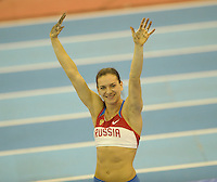 Photo: Ady Kerry/Richard Lane Photography..Aviva Grand Prix. 21/02/2009. .Yelena Isinbayeva in the pole vault