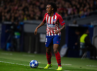 Gelson Martins of Atletico de Madrid during the match between Atletico de Madrid and Borussia Dortmund of UEFA Champions League 2018-2019, group A, date 4 played at the Wanda Metropolitano Stadium. Madrid, Spain, 6 NOV 2018.