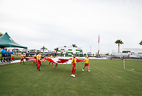 Lakewood Ranch, FL - Sunday July 23, 2017: Pre-game ceremonies during an international friendly match between the paralympic national teams of the United States (USA) and Canada (CAN) at Premier Sports Campus at Lakewood Ranch.