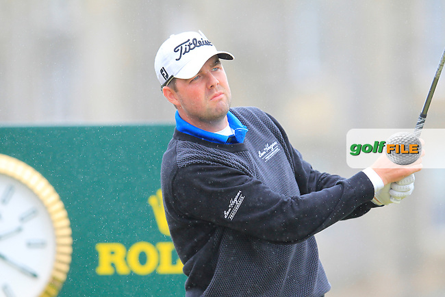 Marc Leishman (USA) on the 2nd during the final round on Monday of the 144th Open Championship, St Andrews Old Course, St Andrews, Fife, Scotland. 20/07/2015.<br /> Picture: Golffile | Fran Caffrey<br /> <br /> <br /> All photo usage must carry mandatory copyright credit (&copy; Golffile | Fran Caffrey)