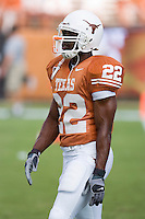 09 September 2006: Texas back Selvin Young pauses between warmups prior to the Longhorns 24-7 loss to the Ohio State Buckeyes at Darrell K Royal Memorial Stadium in Austin, TX.