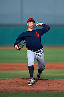 Cleveland Indians pitcher Luis Lugo (47) during an instructional league game against the Cincinnati Reds on October 17, 2015 at the Goodyear Ballpark Complex in Goodyear, Arizona.  (Mike Janes/Four Seam Images)