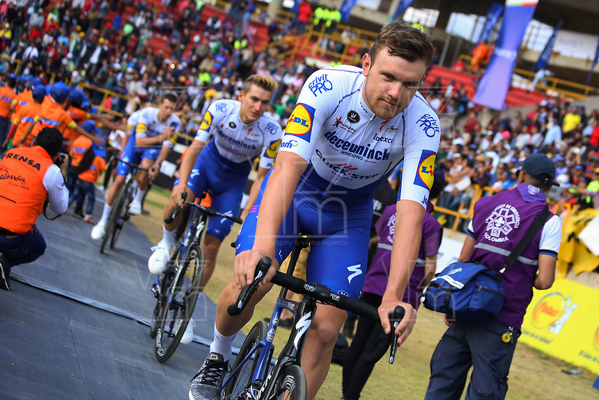 TUNJA - COLOMBIA, 11-02-2020: Bert Peter<br /> Van Lerberghe (BEL) del equipo DECEUNINCK - QUICK STEP durante la primera del Tour Colombia 2.1 2020 que se correrá en Boyacá, Colombia entre el 11 y 16 de febrero de 2020. / Bert Peter<br /> Van Lerberghe (BEL) of team DECEUNINCK - QUICK STEP during the launch of Tour Colombia 2.1 2020 that that will run between February 11 and 16, 2020 in Boyacá, Colombia.  Photo: VizzorImage / Darlin Bejarano / Cont