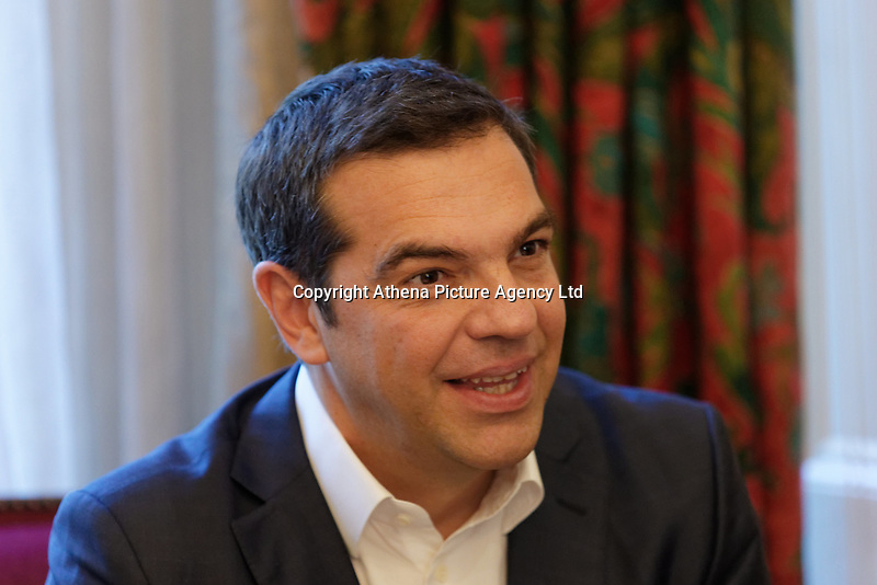 Pictured: Alexis Tsipras at the Greek Orthodox Archdiocese of Thyateira and Great Britain in London, UK. Monday 25 June 2018<br /> Re: Greek Prime Minister Alexis Tsipras is on a three day visit to London, UK.