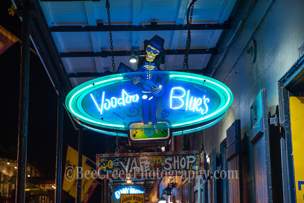 Neon Street signs from New Orleans French Quarter.