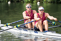 Henley Royal Regatta, Henley on Thames, Oxfordshire, 28 June - 2 July 2017.  Friday  10:51:46   30/06/2017  [Mandatory Credit/Intersport Images]<br /> <br /> Rowing, Henley Reach, Henley Royal Regatta.<br /> <br /> The Double Sculls Challenge Cup<br />  J.W. Storey &amp; C.W. Harris (Waiariki Rowing Club, New Zealand)