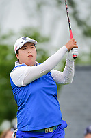 Shanshan Feng (CHN) watches her tee shot on 1 during Friday's second round of the 72nd U.S. Women's Open Championship, at Trump National Golf Club, Bedminster, New Jersey. 7/14/2017.<br /> Picture: Golffile | Ken Murray<br /> <br /> <br /> All photo usage must carry mandatory copyright credit (&copy; Golffile | Ken Murray)