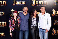 "Angie, Manuel Sicilia, Inma Cuesta and Antonio Banderas during ""Justin And The Knights Of Valour"" film presentation in Spain, in Villaviciosa de Odon castle, in Madrid, Spain. September 11, 2013. (Alterphotos/Victor Blanco) /nortephoto.com"