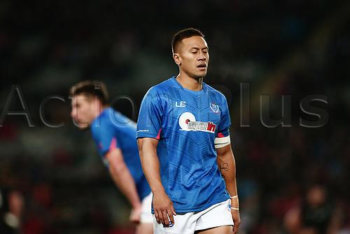 16th June 2017, Eden Park, Auckland, New Zealand; International Rugby Pasifika Challenge; New Zealand versus Samoa;  Tim Nanai-Williams of Samoa looks on