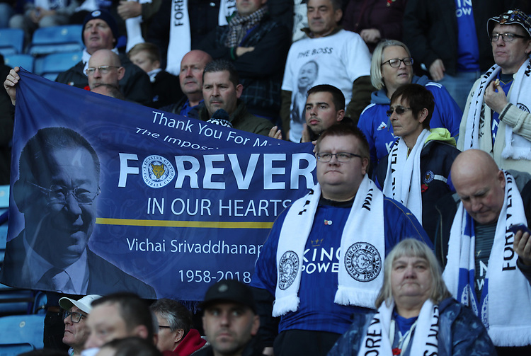 Pre game memorial<br /> <br /> Photographer Rachel Holborn/CameraSport<br /> <br /> The Premier League - Saturday 10th November 2018 - Leicester City v Burnley - King Power Stadium - Leicester<br /> <br /> World Copyright © 2018 CameraSport. All rights reserved. 43 Linden Ave. Countesthorpe. Leicester. England. LE8 5PG - Tel: +44 (0) 116 277 4147 - admin@camerasport.com - www.camerasport.com