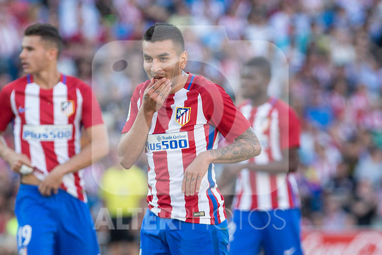 Angel Correa of Atletico de Madrid during the match of La Liga between  Atletico de Madrid and Club Atletico Osasuna at Vicente Calderon  Stadium  in Madrid, Spain. April 15, 2017. (ALTERPHOTOS / Rodrigo Jimenez)