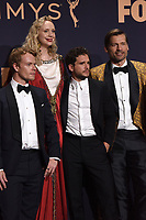 LOS ANGELES - SEP 22:  Alfie Allen, Gwendoline Christie, Kit Harrington, Nikolaj Coster-Waldau at the Emmy Awards 2019: PRESS ROOM at the Microsoft Theater on September 22, 2019 in Los Angeles, CA