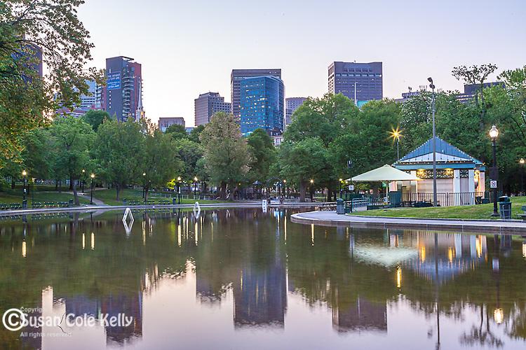 The Frog Pond on Boston Common, Boston, Massachusetts, USA