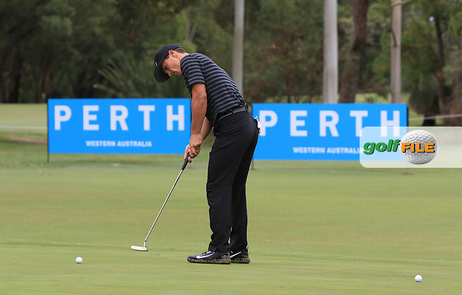 Thorbjorn Olesen (DEN) on the 3rd green during the Pro-Am for the ISPS Handa World Super 6 Perth on Wednesday 15th February 2017.<br /> Picture:  Thos Caffrey / Golffile<br /> <br /> All photo usage must carry mandatory copyright credit     (&copy; Golffile | Thos Caffrey)