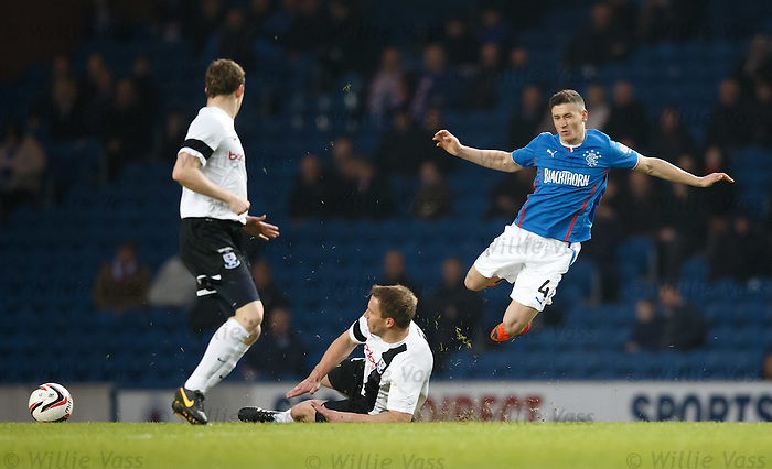 Martyn Campbell sends Fraser Aird flying