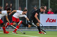 Harry Miskimmin of the Blacksticks. International Hockey, Blacksticks men v Canada. Warkworth Hockey Turf, Warkworth, Auckland, New Zealand. Thursday 18 October 2018. Photo: Simon Watts/ Hockey NZ