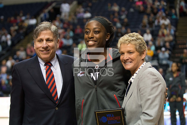 NASHVILLE, TN - Chiney Ogwumike is honored as a Coaches All America Awards in Nashville, TN for the 2014 NCAA Final Four tournament at the Bridgestone Arena.
