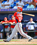 28 February 2011: Washington Nationals' infielder Danny Espinosa in action during a Spring Training game against the New York Mets at Digital Domain Park in Port St. Lucie, Florida. The Nationals defeated the Mets 9-3 in Grapefruit League action. Mandatory Credit: Ed Wolfstein Photo