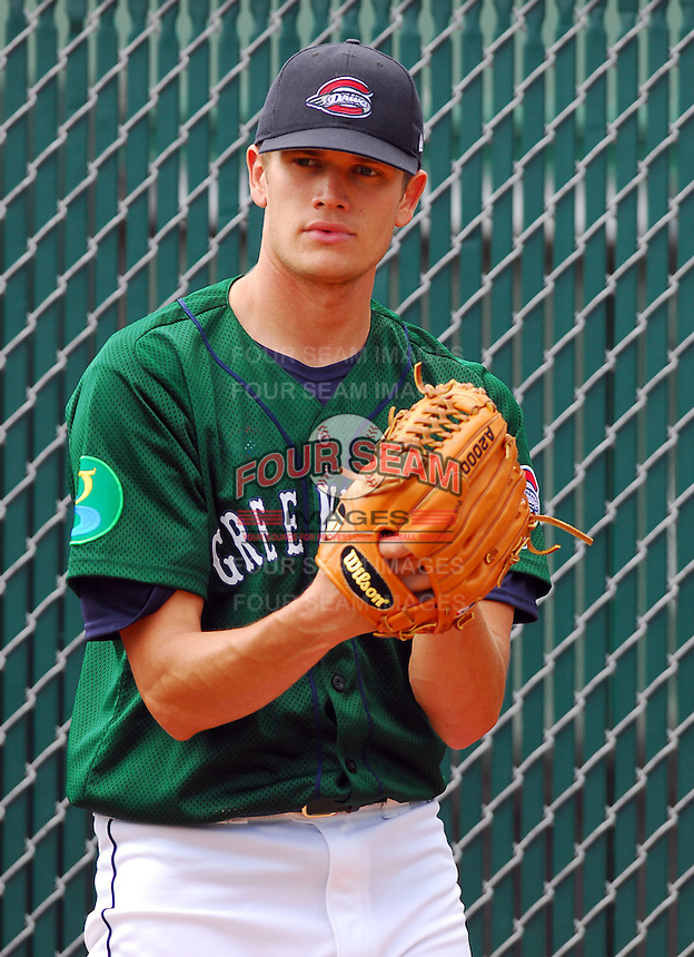 6 May 2007: Dustin Richardson from a game between the Greenville Drive, Class A affiliate of the Boston Red Sox, and the Augusta GreenJackets at West End Field in Greenville, S.C.